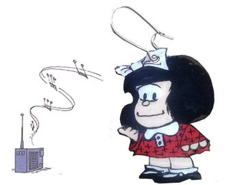 Pin - Earrings - Pendant - Mafalda Cartoon Character