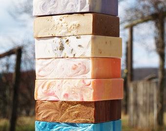 Homemade Goat's Milk Soap, Natural Soap , Scented Soap Sampler, Custom Soap Bar + Artisan Soaps + Cold Processed