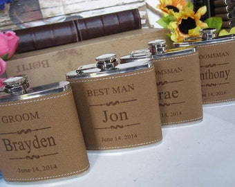 8 Personalized Groomsman Flask