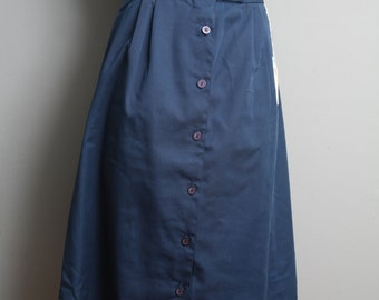 Vintage tea-length button front skirt