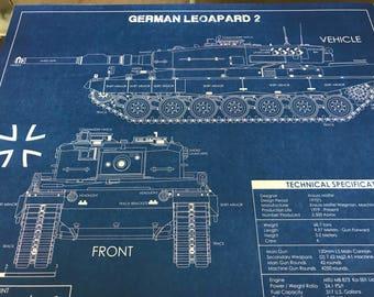 German Leopard Tank Print Ltd to 50 Prints