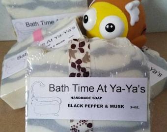 Handmade Soap, Black Pepper and Musk