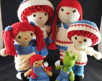 Rag Doll Family (Penny, Pete, Jack & Julie) crochet Patterns 4pdf files