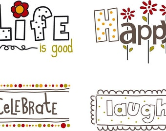 Happy Words Little Labels