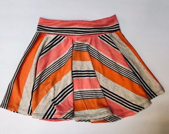 Striped Circle Twirly skirt 18-24 Months Ready to Ship