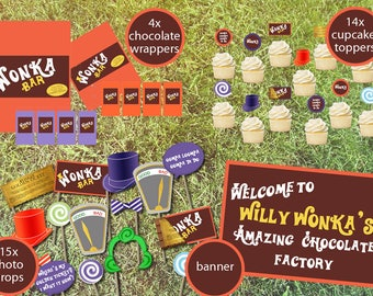 Willy Wonka Printable Party Pack INSTANT DOWNLOAD