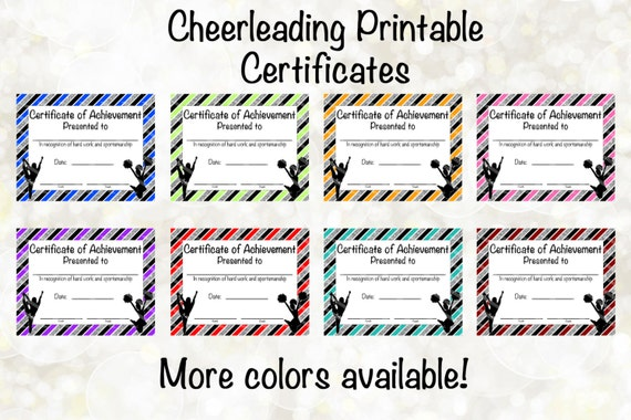 Cheerleading certificate cheerleading award cheerleading cheerleading certificate cheerleading award cheerleading diy cheerleading printable cheerleading achievement end of season award yelopaper Images