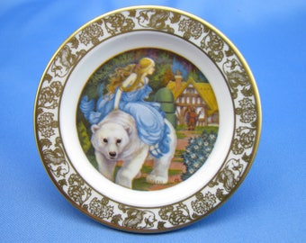 Fairy Tales East of Sun & West of Moon Franklin Fine China 3-Inch Plate Carol Lawson
