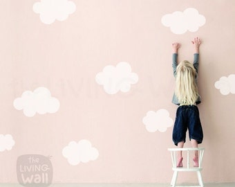 Clouds Nursery Wall Decals, Cloud Wall Sticker Kids Room Decor Wall Art, Australian made