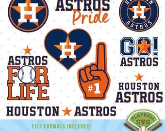 Houston Astros SVG files, baseball designs contains dxf, eps, svg, jpg, png and pdf files. PB-008