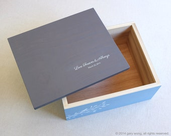 Custom wooden BOX - personalized it... keepsake box, wedding album box, memento box, jewelry box, photo box