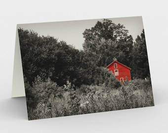 Country Scene Cards, Blank Note cards, Nature Note Cards, Greeting Cards, Three Note Cards, 5x7 Cards, Red Barn Art Card, All Occasion Cards