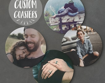 Custom Coaster - Personalised Family Picture Coaster, Personalised Coaster, Customised Coaster, Family Coaster, Family Gift, Family Portrait