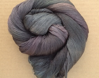 Hand Dyed Silk Yarn, Spun Silk Yarn, Weaving, Lace Knitting,  Lacemaking, 60/2 weight, No.71 Chestnut