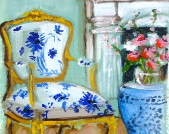 A Blue and White Beauty Fine Art Print