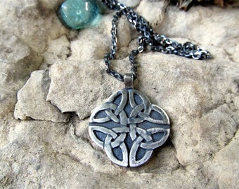 Double Sided Sterling Silver Celtic Pendant