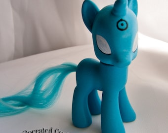 OOAK Custom My Little Pony - Watchmen Set - Rorschach - Comedian - Dr. Manhattan