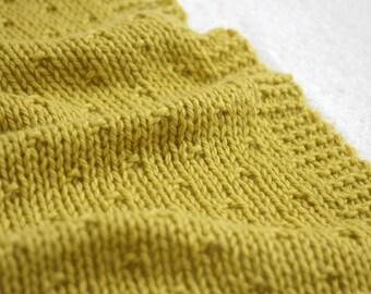 KNIT BLANKET PATTERN, Baby Blanket Pattern, Knit Afghan Pattern, Knitting Patterns, Graciel Winter Blanket - 5 Sizes
