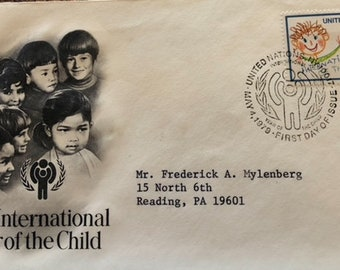 1979 First day issue cover USPS International Year of the Child United Nations May 4,1979    (1-2)