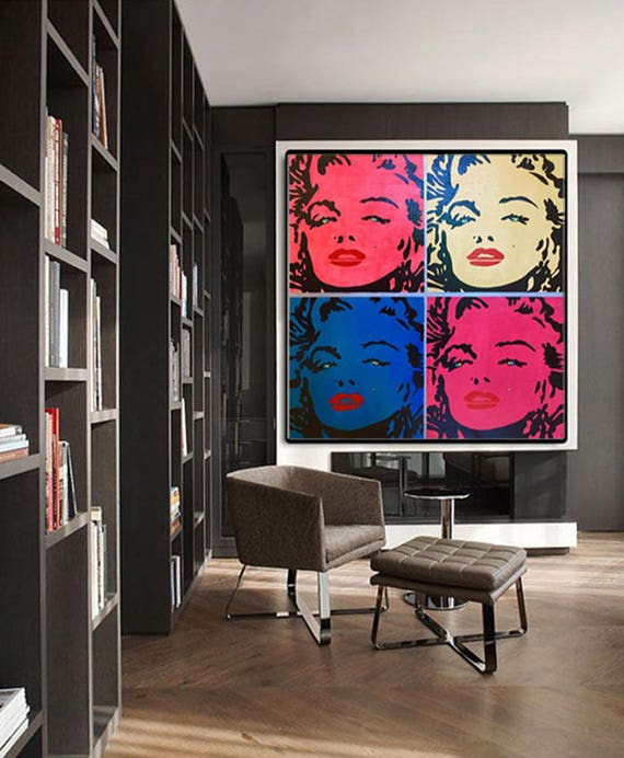 Marilyn MONROE Painting Wall Art Home Decor Gift Portrait
