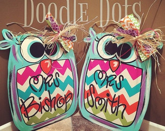 Big Hoot Owl Door Hanger
