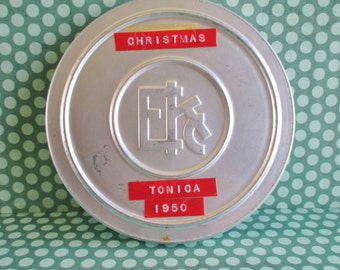 Vintage Eastman Kodak Movie Reel Tin With Movie - Christmas Tonica 1950