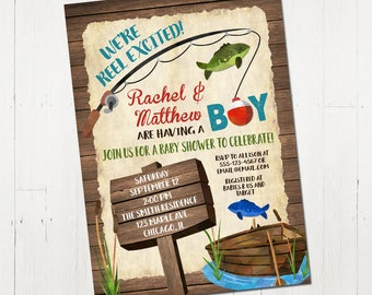 Superb Fishing Baby Shower Invitation, Baby Shower Invitation Boy, Weu0027re Reel  Excited Invite