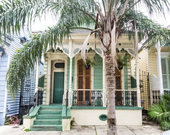 New Orleans Green Home Greeting Cards