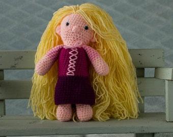 handmade crochet cuddle toy Rapunzel