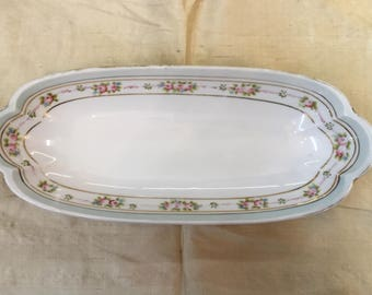 """Nippon Celery Dish 11-1/4"""" Length Pastel Colors In Great Used Condition"""