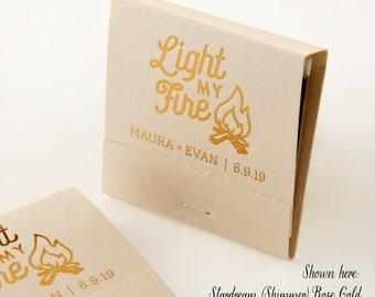 LIGHT MY FIRE Campfire Matchbooks - Wedding Favors, Wedding Matches, Wedding Decor, Personalized Matches, Custom Matchbooks, Party Favors