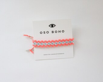 Neon Metallic Friendship Bracelet