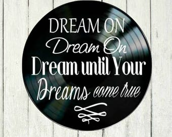 Tom petty wildflower song lyricsvinyl record wall art music aerosmith dream on song lyrics vinyl on vinyl record music lyric art song lyric art vinyl stopboris Choice Image
