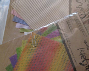 "NEW In Package....Paper for Crafts....8"" x 8"".....Pastel and Dyed Net....Crafts Fun! Specialty Papers...(2)"