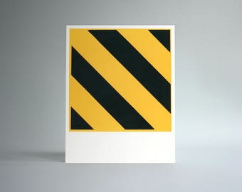 Untitled (Hazard) Handprinted Silkscreen Art Print