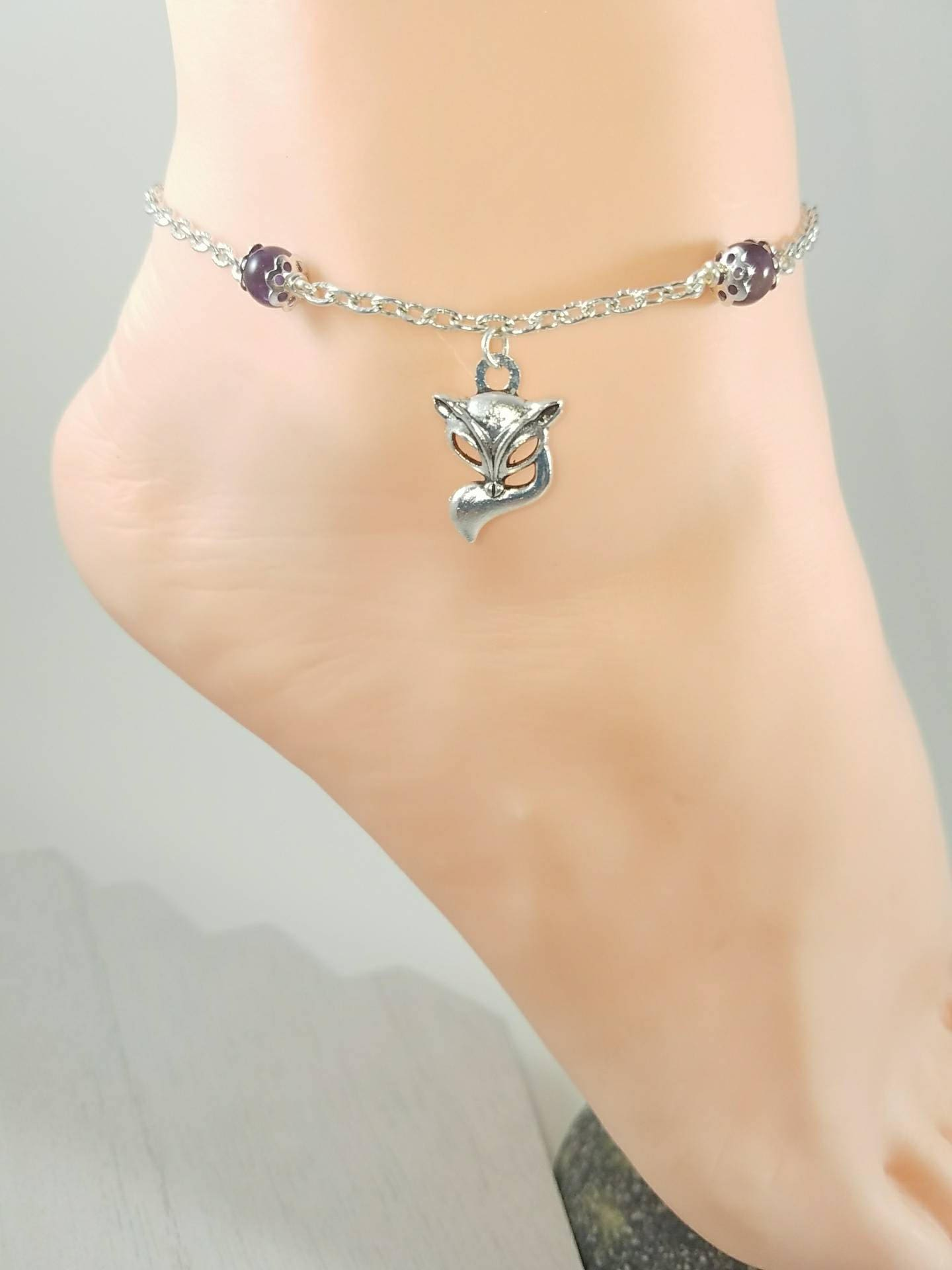 beach listing for boho flower women anklet jewelry gift ankle wife il fullxfull style bracelet