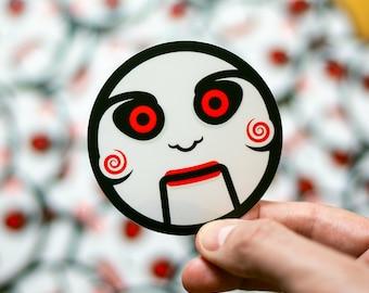 Saw-inspired Sticker, Jigsaw, Saw The Movie, Saw The Ride, Scary Stickers, Halloween Stickers, Horror Stickers, Jigsaw Puppet, Cool Stickers