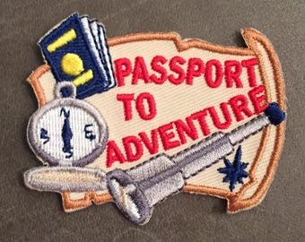 Passport to Adventure Camping Scout Merit Badge Patch