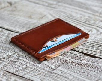 Leather Wallet Minimalist Wallet Mens Wallet Slim Wallet Credit Card Wallet Front Pocket Gift for him Groomsmen gift slim Gift for father