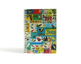 Birds Mosaic Notebook A6 Spiral Bound