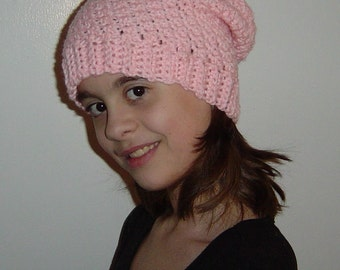 Womens Hipster Slouch Beanie Hat You Choose Color