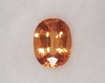 Spessartite or Spessartine Mandarin Garnet 7x5.5 1.39ct Natural Loose Orange Oval Cut Faceted Gemstone