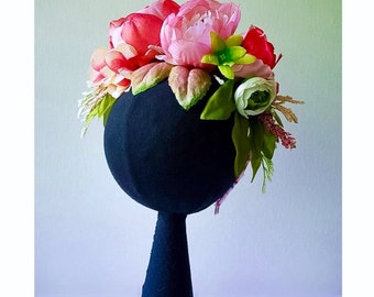 Flowers Crown Peony in Pink