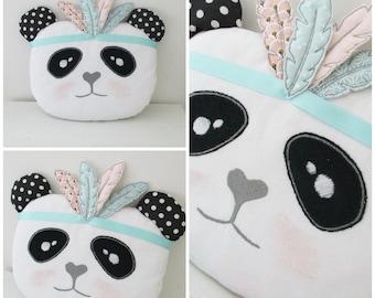 CUSTOMIZABLE cotton feather Indian Panda cushion/Plushie
