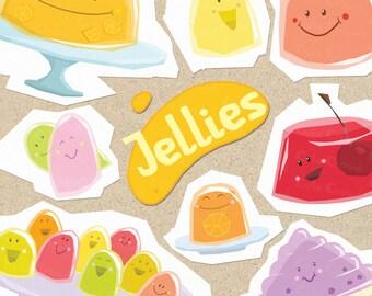 Jellies clip art, funny jellies, jelly