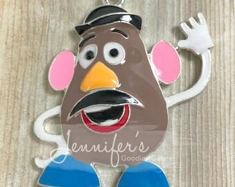 Mr. Potato Head Pendant, Potato Pendant, Rhinestone Pendants, Toy Story Pendant, Chunky Necklace, DIY Necklaces, Wholesale Pendants