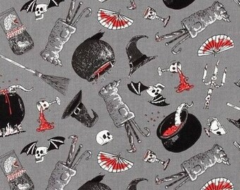 Cauldrons patchwork Oddities Alexander Henry fabric