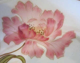 R S germany bowl handpainted orchids fabulous bowl