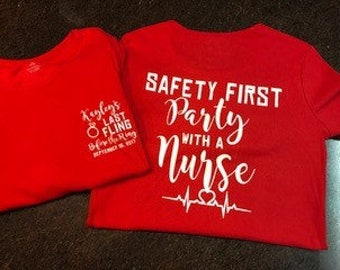 Nurse Bachelorette Party Shirt