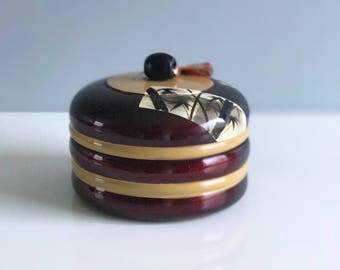 Vintage Japanese Lacquered Music Box